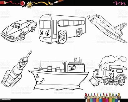 Coloring Transport Vehicles Vector Transportation Vehicle Air
