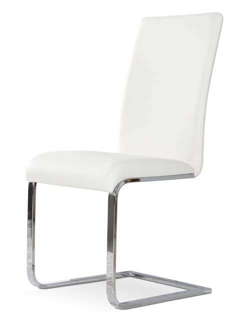 crane modern white dining chair set of 2