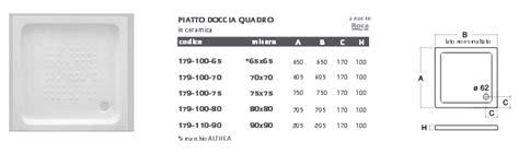 Doccia Rettangolare Misure by Piatto Doccia Rettangolare O Quadrato In Ceramica Roca Df