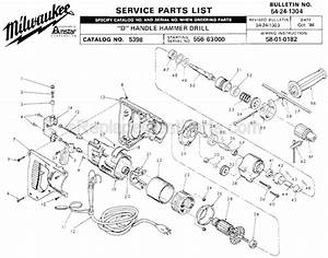 Milwaukee 5398 Parts List And Diagram