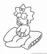 Coloring Simpson Homer Maggie Simpsons Marge Printable Colouring Clown Krusty Cartoons Pdf Getcolorings Coloringpages101 Coloringhome Related Popular sketch template