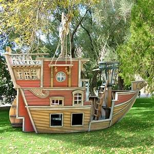 Outdoor Kids Play House For Boys  U2013 Pirate Ship Playhouse