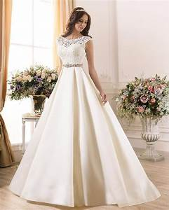 2017 new white taffeta cap sleeve a line wedding dress With a line wedding gowns