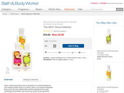 And Bath Collection Website by Bath Works Citrus Collection Bath Fragrance