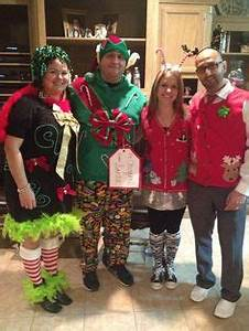 Ugly Christmas Sweater Party Outfits Glue gun and dollar