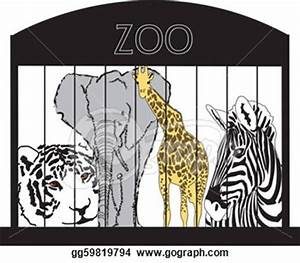 At The Zoo Clipart Black And White - ClipartXtras