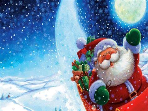 Santa Claus Desktop Free Santa Claus Moving On Free Merry Santa Claus Hd Wallpapers For