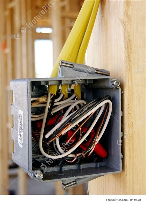 grey electrical box yellow wiring stock photo i1149931 at