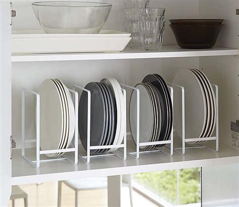 vertical plate rack yamazaki cupboard drawer organisers store