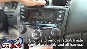 Remove Factory Stereo Honda Accord 2003-2007