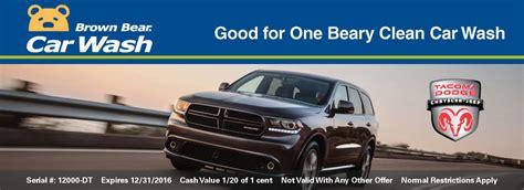 Dodge Dealership Tacoma by Dealership Program Brown Car Wash