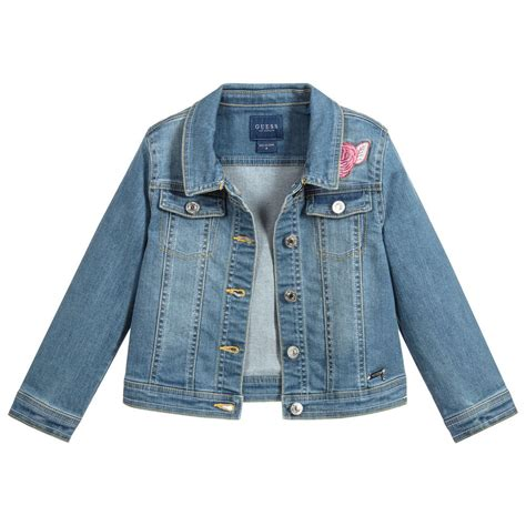 guess girls blue denim jacket childrensalon