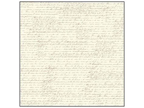 Canvas Corp 12 X 12 In. Paper Tan & Ivory French Script