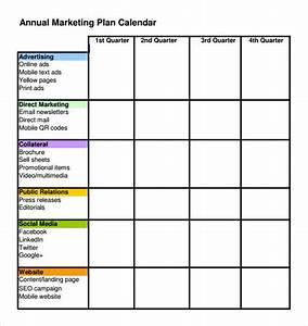 publicity plan template - 6 marketing schedule templates sample templates