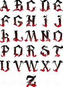 Gothic Alphabet Letters Clip Art