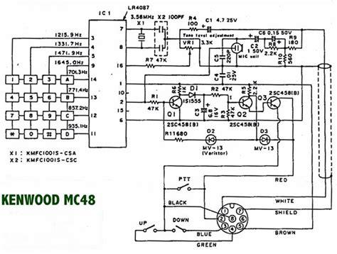Cobra 75 Wx St Wiring Diagram by Kenwood Mc 48b Funktechnik Bielefeld Professionelles