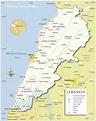 Lebanon Map and Lebanon Satellite Image