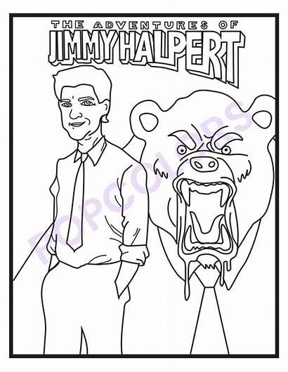 Coloring Office Pages Jimmy Halpert Dunder Mifflin
