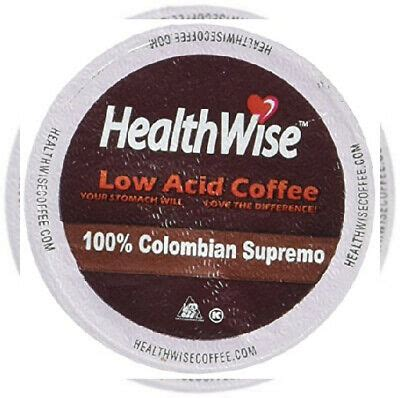 Any standard brew offers as many as. HealthWise Low Acid Coffee for Keurig K-Cup Brewers, 100% ...