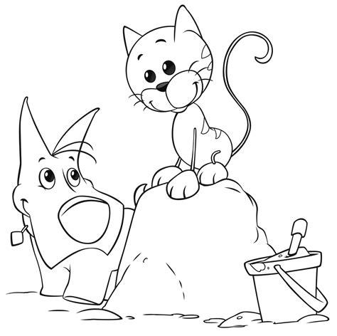 mini cuccioli da colorare cuccioli portatile e olly giocano sulla sabbia