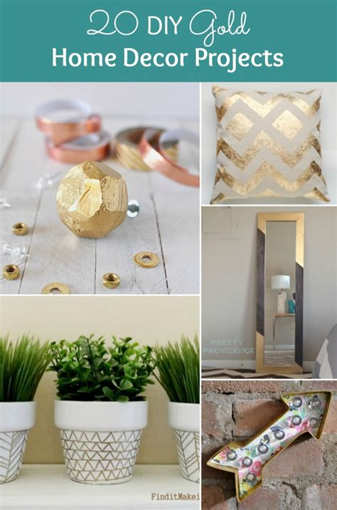 diy gold home decor projects   home