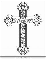 Coloring Cross Roses Thorns Catholic Thecatholickid Church Mls Cnt Brain sketch template