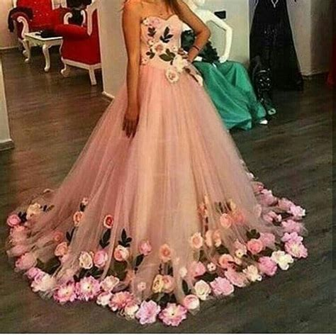 Super elfin series (impatiens walleriana), which is a spreading plant with a wide variety of pastel colors. Beautiful Handmade Flowers Ball Gown Prom Dress for ...