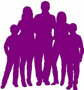 Family of 5 Silhouette | Free vector silhouettes