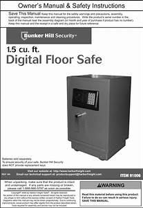 Bunker Hill Digital Floor Safe Manual P45891