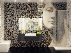 bathroom with mosaic tiles ideas mosaic tile bathroom feature wall interior design ideas