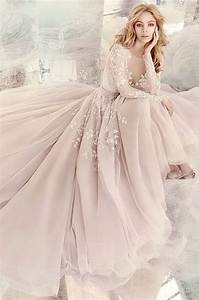 34 long sleeve wedding dresses for fall and winter With long sleeve blush wedding dress