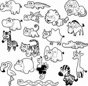 Coloriage Animaux de la savane à imprimer sur COLORIAGES .info