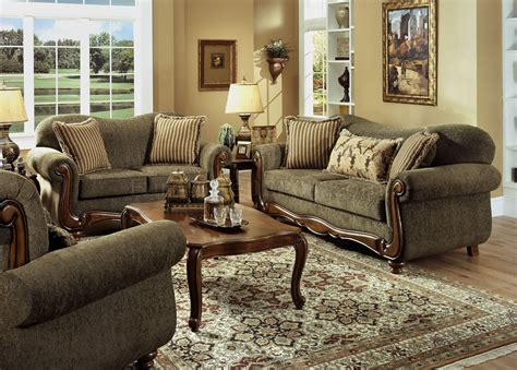 Traditional Sofas And Loveseats by Pine Fabric Traditional Sofa Loveseat Set W Rolled Arms