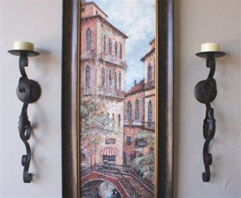 cheap wall sconces for candles tuscan scrolling acanthus wrought iron wall candle sconce