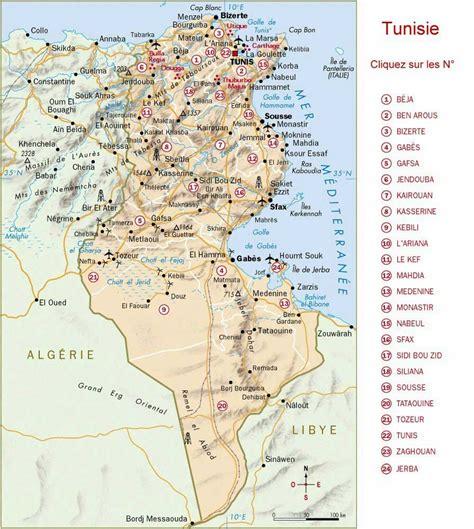 Carte Du Monde Tunisie by La Tunisie Arts Et Voyages