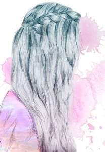 Braid Girl Hair Drawing