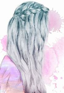 girl hair drawing tumblr - Google Search | aes: artsy ...
