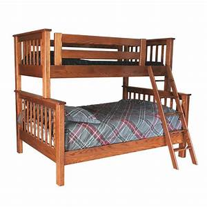 Twin Over Full Bunk Bed Solid Wood Bunk Bed Amish Made