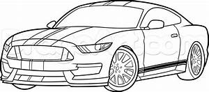 How to draw a ford mustang gt500