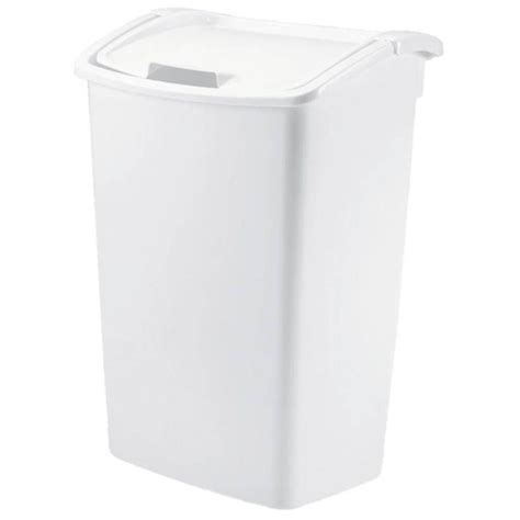 rubbermaid  gal white trash  fgwht  home depot