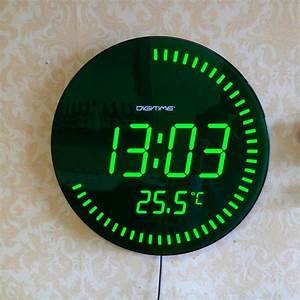 3d Creative Circular Large Led Digital Wall Clock Modern