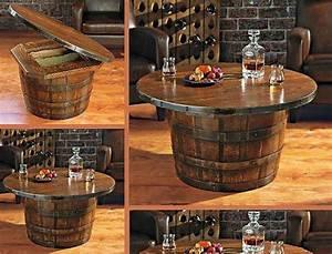 Table De Salon Originale : meuble original compos de vraies barriques design feria ~ Preciouscoupons.com Idées de Décoration