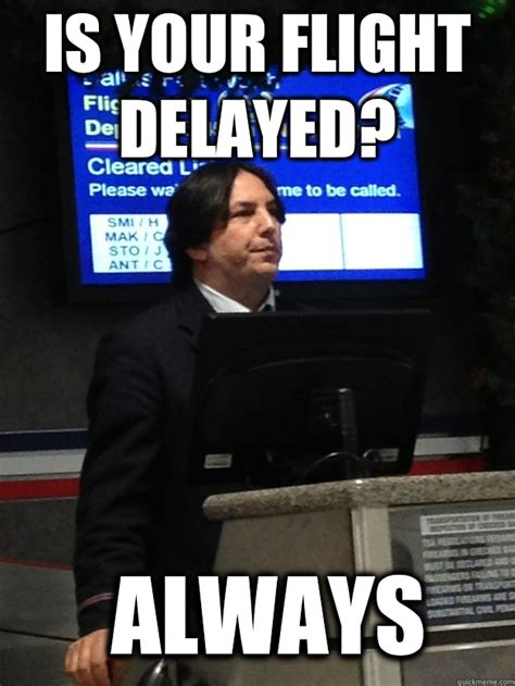Airline Memes - flight attendant snape memes quickmeme