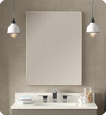 Nickel Framed Bathroom Mirror by Ronbow 600823 Bn Contemporary 23x30 Quot Metal Framed Bathroom