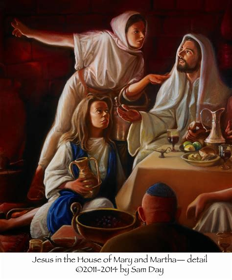Here Am I Jesus In The House Of Mary And Martha The