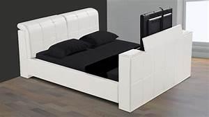 Lit Avec Tv Escamotable : lit avec tv escamotable meuble de salon contemporain ~ Nature-et-papiers.com Idées de Décoration