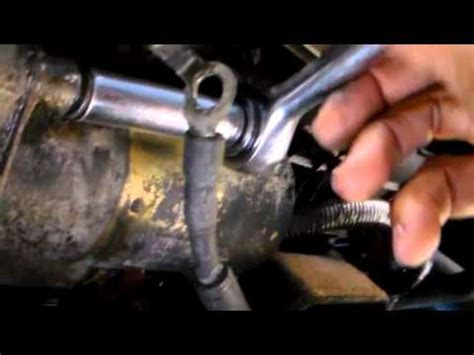 How Replace The Starter Ford Exploer Youtube