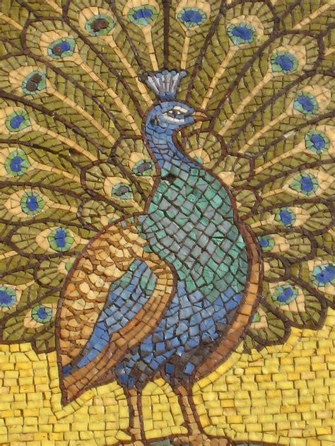 mosaic peacocks detail  peacock mosaic st georges