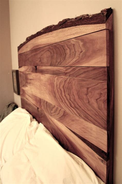 edge headboard black walnut  images
