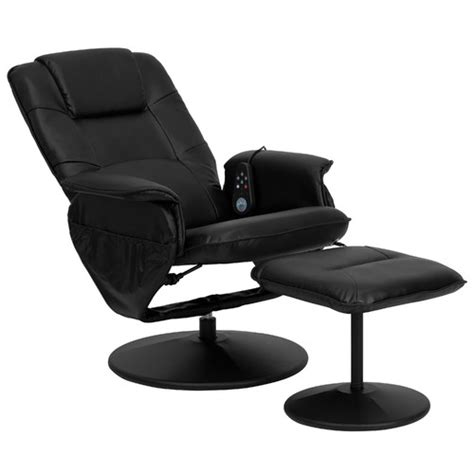 flashfurniture leather heated reclining chair with